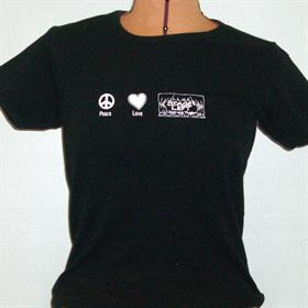 Peace, Love & Stage Left Black Short Sleeve T-Shirt